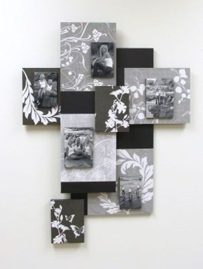 wall decor - easy foam core and scrapbook paper project / knits and ...
