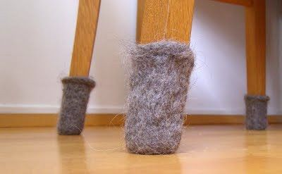 Felted Furniture Feet To Protect Your Wood Floors Crochet Ideas