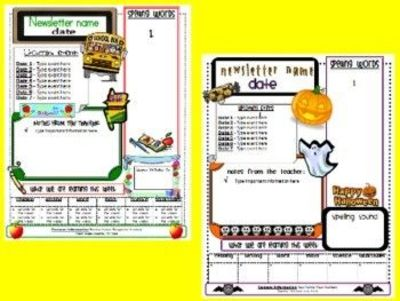 This is a set of free editable newsletter templates for use this is a set of free editable newsletter templates for use in your classroom all spiritdancerdesigns Images
