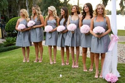 Pink and grey wedding! / wedding ideas - Juxtapost