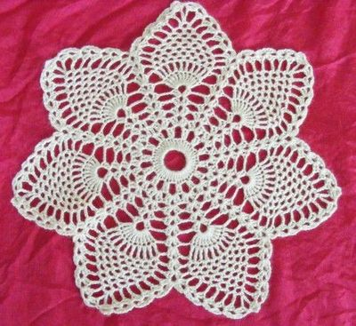 Free Crochet Patterns For Doilies For Beginners : free crochet pineapple doily patterns MEMEs