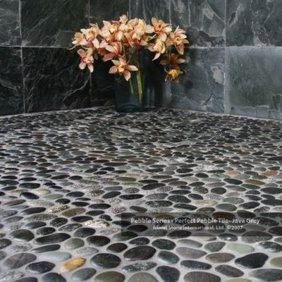 Bathroom Pebble Stone Natural River Rock Bath Ideas