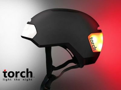 Torch Bicycle Helmet With Integrated Lights Geeking