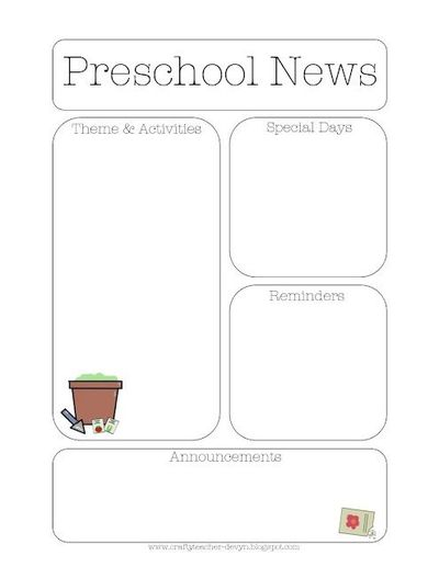Gardening themed preschool newsletter template preschool items gardening themed preschool newsletter template pronofoot35fo Images