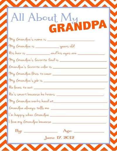 picture about All About My Papa Printable named All more than My Grandpa, printable (fathers working day) / Preschool