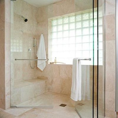 Huge walk in shower with bench bath ideas juxtapost for Huge walk in shower
