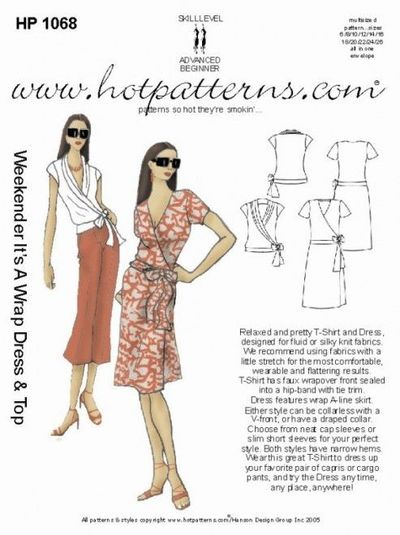 HP 1068 Weekender It's A Wrap Dress & Top - HotPatterns