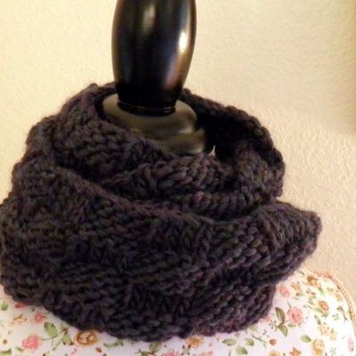 Basket Weave Cowl Free Knitting Pattern | NobleKnits Free Patterns
