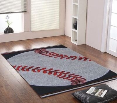Baseball Rug Kids Rooms