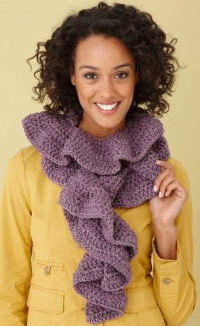 Free Crochet Pattern Glitter Ruffle Scarf Crochet Ideas And Tips