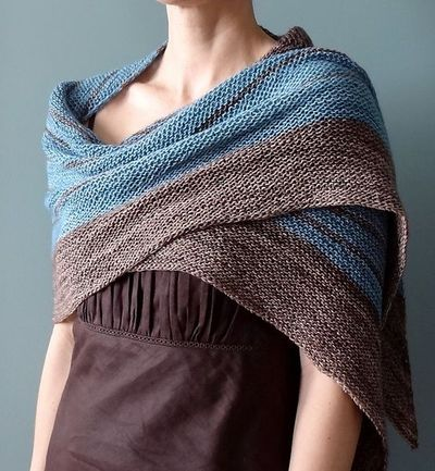 fave summer knit pattern - stripe study shawl / knits and kits - Juxtapost