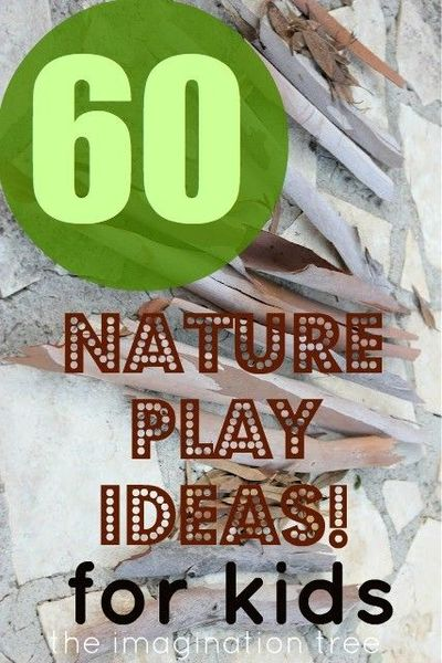 Here are 60 ideas for activities to do with natural materials at home, school or travel