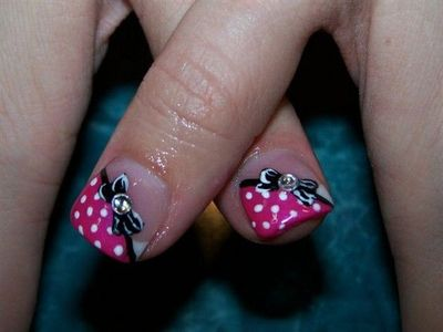 Minnie Mouse Cute Design For Toes Nails Toes Theme Parks I