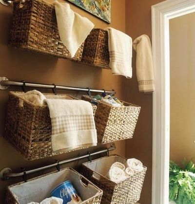 Creative Storage Ideas for Small Bathrooms / bath ideas - Juxtapost