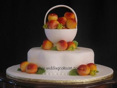Gumpaste and fondant peaches cake