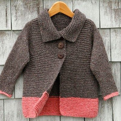 Childrens Knitting Patterns : Kids Cardigan - Free knitting pattern / crochet ideas and tips ...