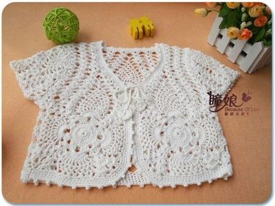 White Bolero Free Crochet Graph Pattern Crochet Ideas And Tips