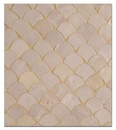 Moroccan style fish scale tiles for my kitchen juxtapost for Fish scale tiles bathroom