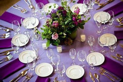More gorgeous purple wedding table settings #purplelinens & purple table settings u2013 Loris Decoration