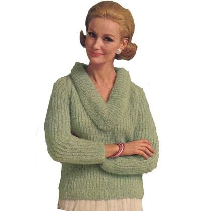 V Cowl Neck Sweater Knitting Pattern / knits and kits ...