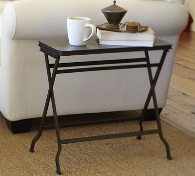 Carter Metal Folding Tray Table | Pottery Barn
