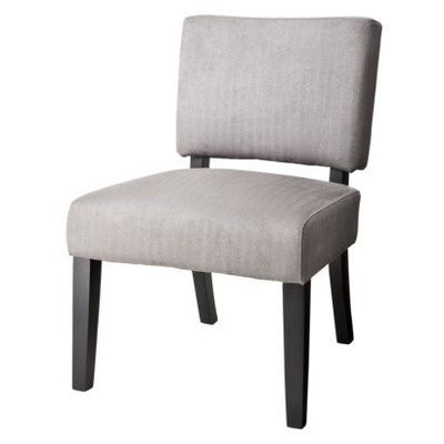 Vale Armless Open Back Upholstered Accent Chair Grey