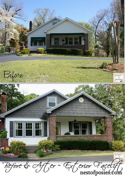 Facelift ideas for a home exterior remodel and curb for Renovate front of house