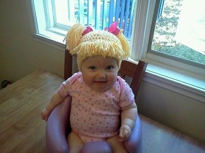 Cabbage Patch Knit Hat....hilarious!!! / crochet ideas and tips - Juxtapost