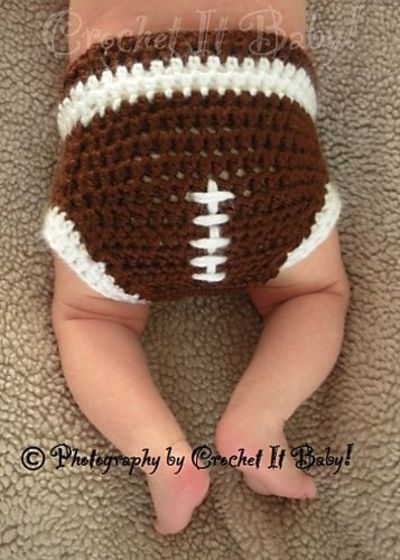 Free Crochet Pattern Football Diaper Cover : Ravelry: Football Hat and Diaper Cover Set pattern by ...
