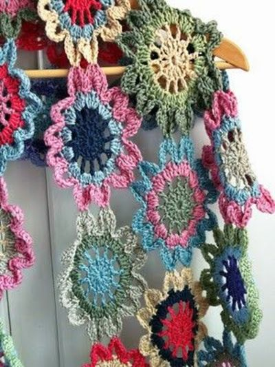 Japanese Flower Scarf Crochet Ideas And Tips Juxtapost