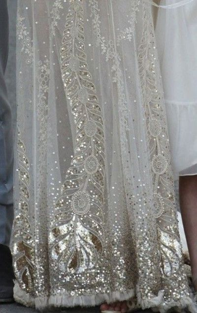 539dbcf4c60 peacock sequined details - Kate Moss  wedding gown by jo...   womens ...