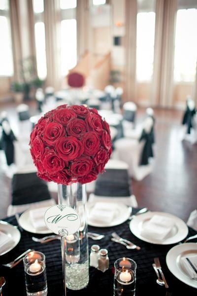 Red Rose Centerpiece Wedding Ideas Juxtapost