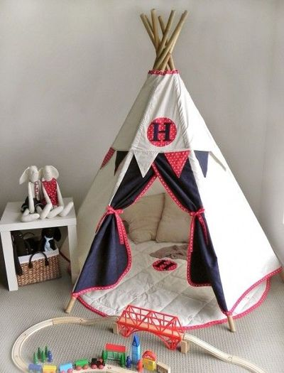 Children 39 S Play Teepee With Matching Mat And Bunting