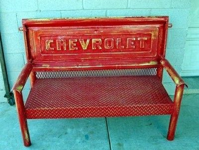 Chevy Pickup Tailgate Bench. AWESOME!!!