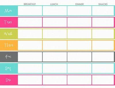 Free Printable- Blank menu planner / food stuff - Juxtapost