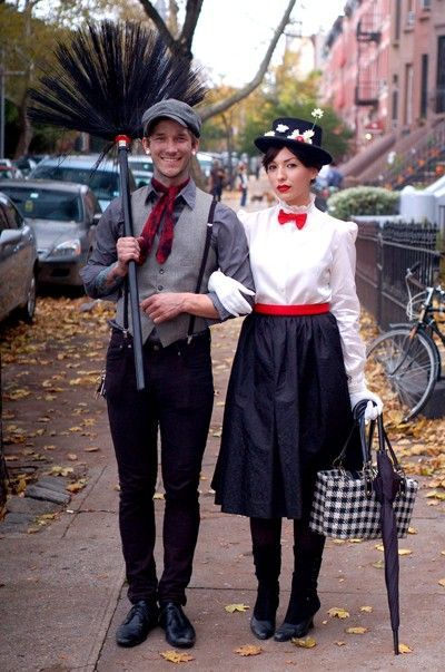 DIY Couples Halloween Costumes - Mary Poppins with Bert and more.