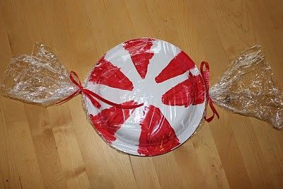 Christmas Candy Craft Ideas.Paper Plate Peppermint Candy Craft Christmas Xmas Ideas