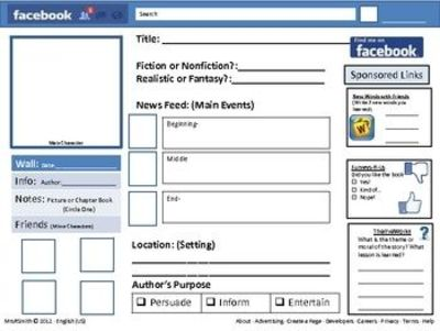 Facebook profile book report school planning juxtapost for Facebook templates for projects