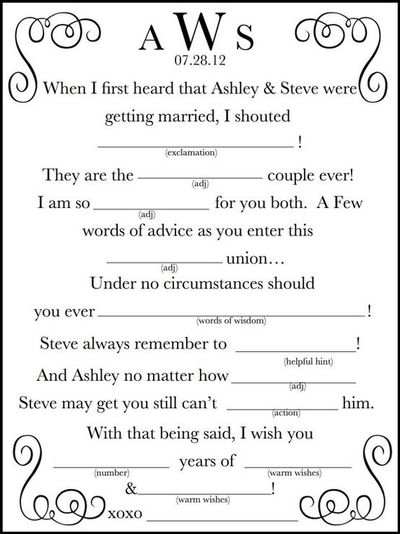 photograph relating to Wedding Mad Libs Printable referred to as Printable Wedding day Outrageous Lib A Pleasurable Visitor E-book by way of WeddingsByJami