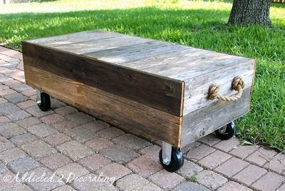 Perfect Great Rustic DIY Coffee Table For Our Deck