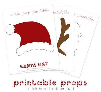 photograph about Christmas Photo Props Printable referred to as printable xmas image props / Preschool products and solutions - Juxtapost