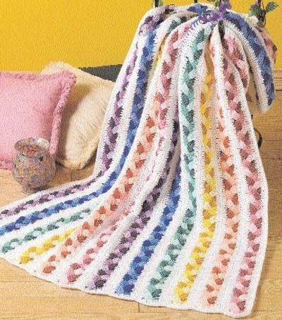 Plaited Scraps Afghan Free Crochet Pattern Crochet Ideas And Tips