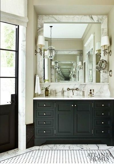 Very handsome and quite masculine black and cream bathroom for Black and cream bathroom ideas