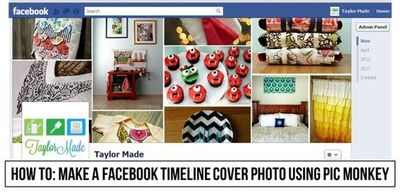 How to make a Facebook Timeline cover photo using Pic Monkey - a GREAT how-to by