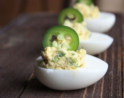 Jalepeno deviled eggs