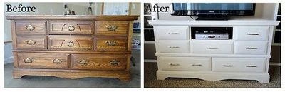 take old dresser and turn it into a beautiful tv stand