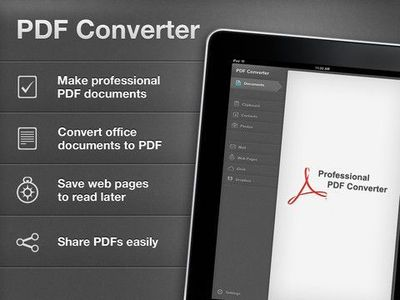 iPad apps to save webpages as PDF document on iPad