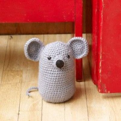 Free Amigurumi Pattern Little Girl Kate : Free Crochet Pattern: Amigurumi Mouse Doorstop / crochet ...