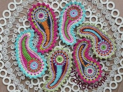 Free Crochet Paisley Applique Pattern, Applique Crochet Pattern -