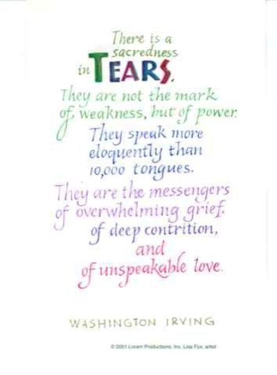 Tears Washington Irving Quote Grief Inspiring Quotes And Sayings Enchanting Quotes About Grief